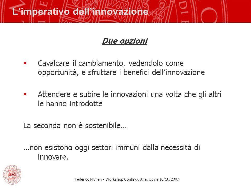 L'imperativo dell'innovazione