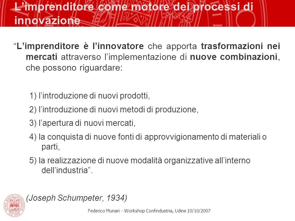 L'imprenditore come motore dei processi di innovazione