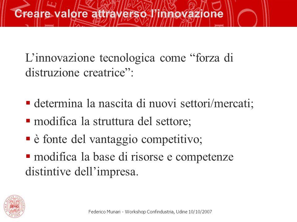 Creare valore attraverso l'innovazione