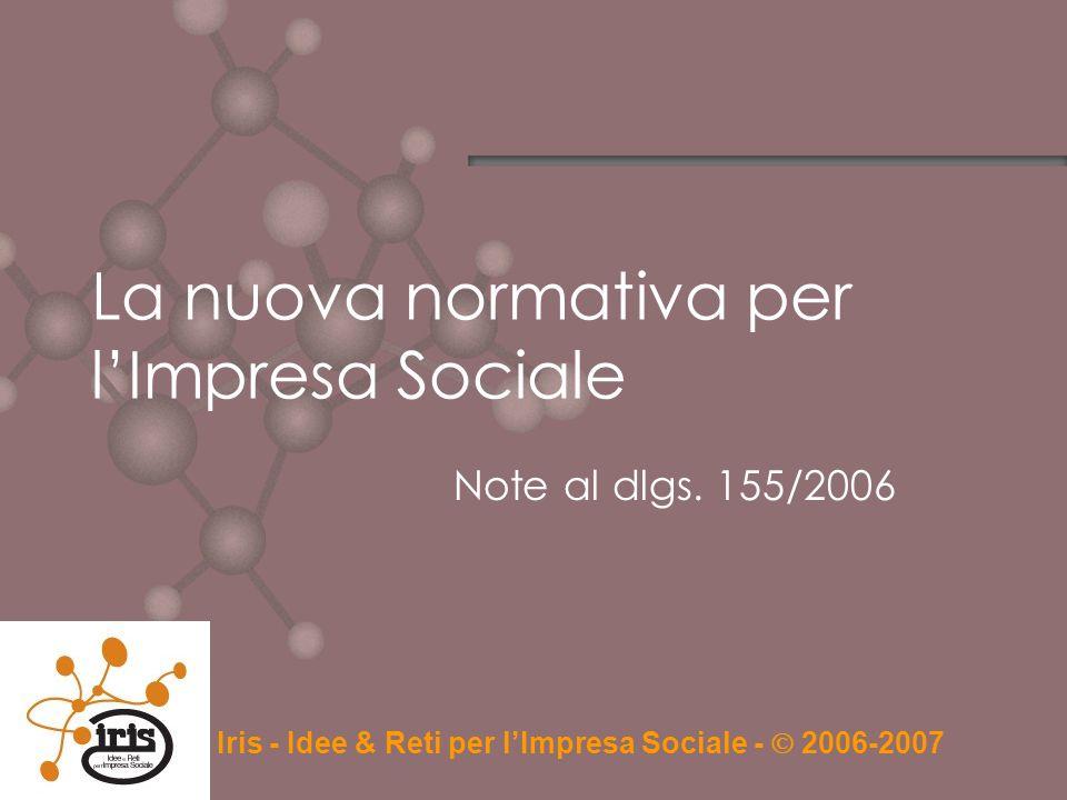La nuova normativa per l'Impresa Sociale