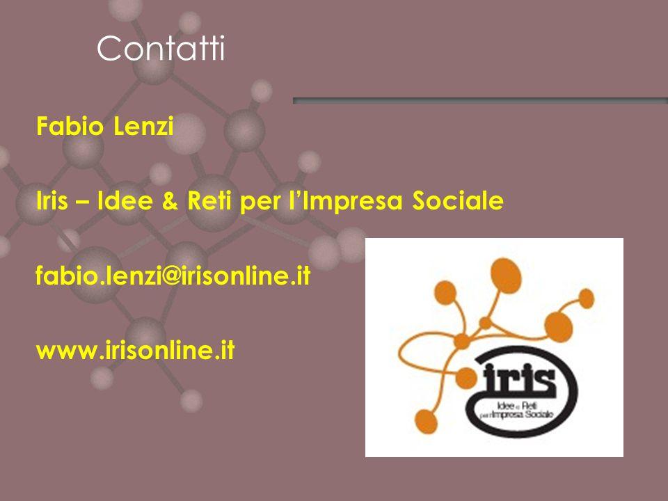 Contatti Fabio Lenzi Iris – Idee & Reti per l'Impresa Sociale