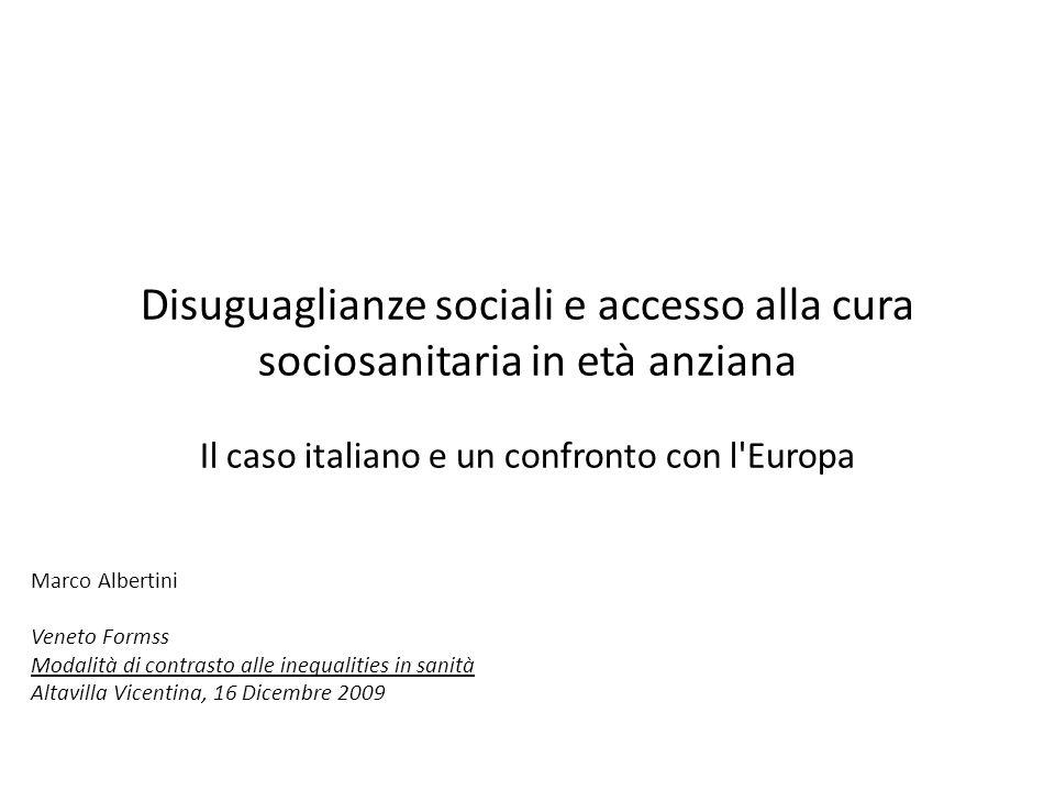Il caso italiano e un confronto con l Europa