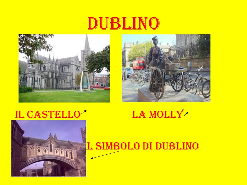 DUBLINO Il castello la molly il simbolo di dublino