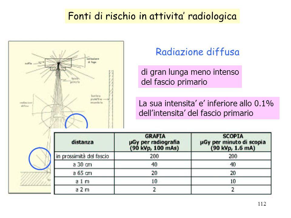 Fonti di rischio in attivita' radiologica
