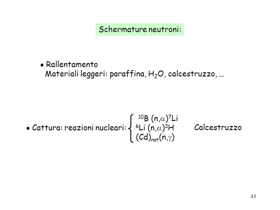 Schermature neutroni: