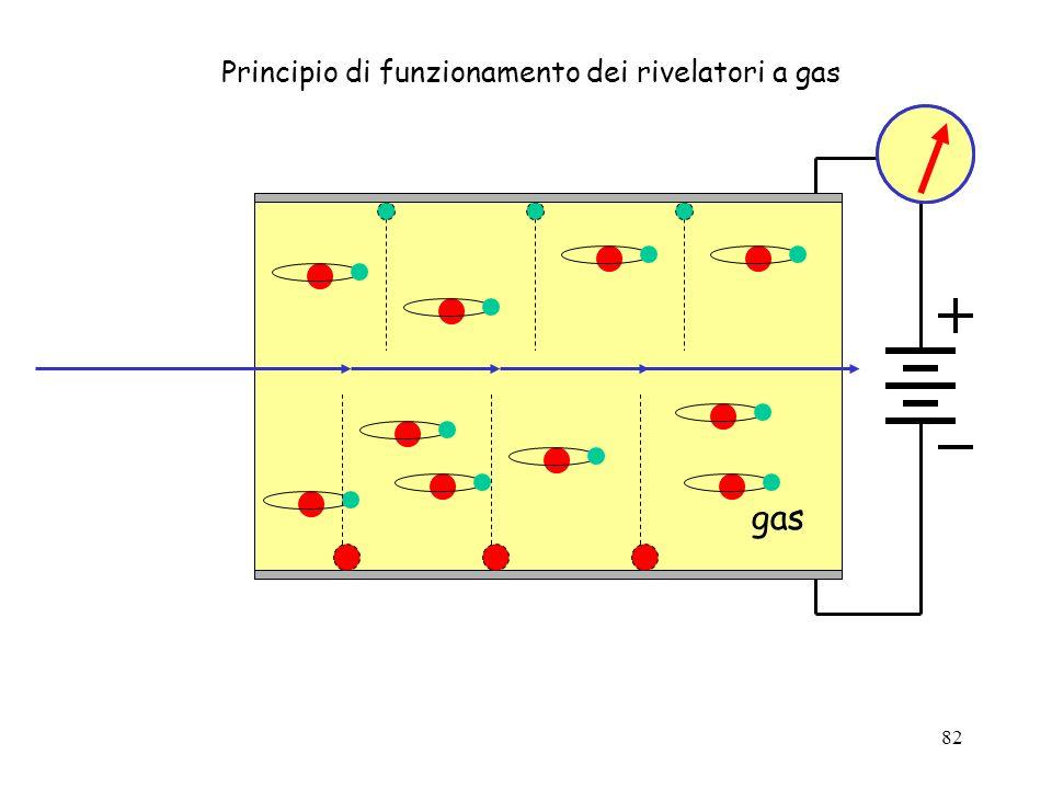 Principio di funzionamento dei rivelatori a gas