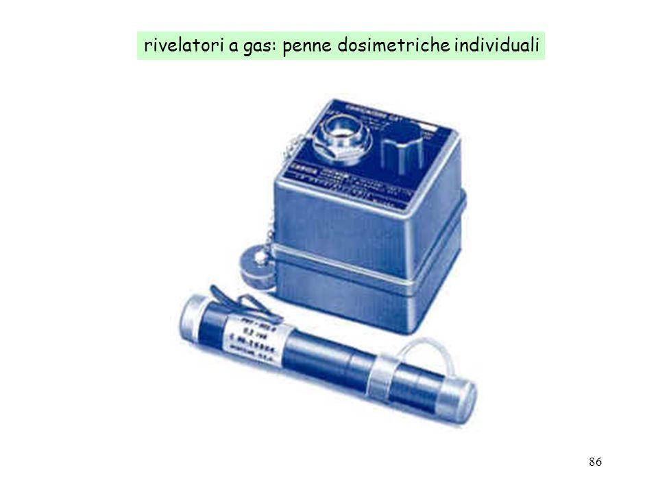 rivelatori a gas: penne dosimetriche individuali