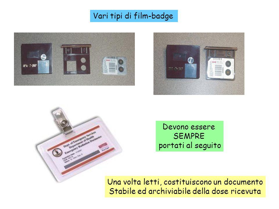 Vari tipi di film-badge