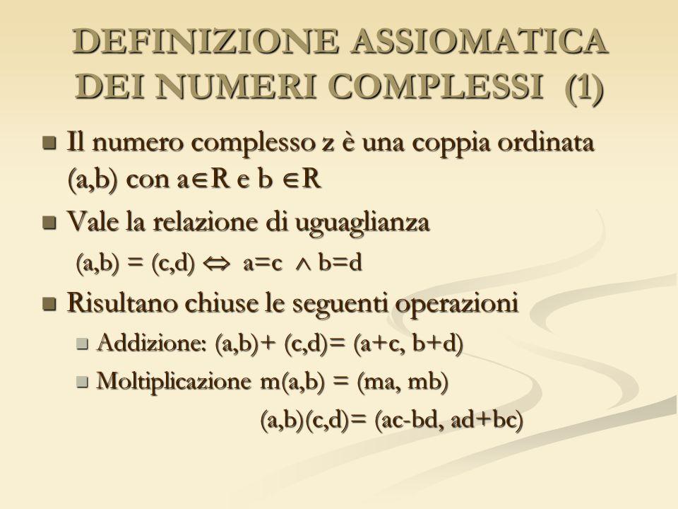 DEFINIZIONE ASSIOMATICA DEI NUMERI COMPLESSI (1)