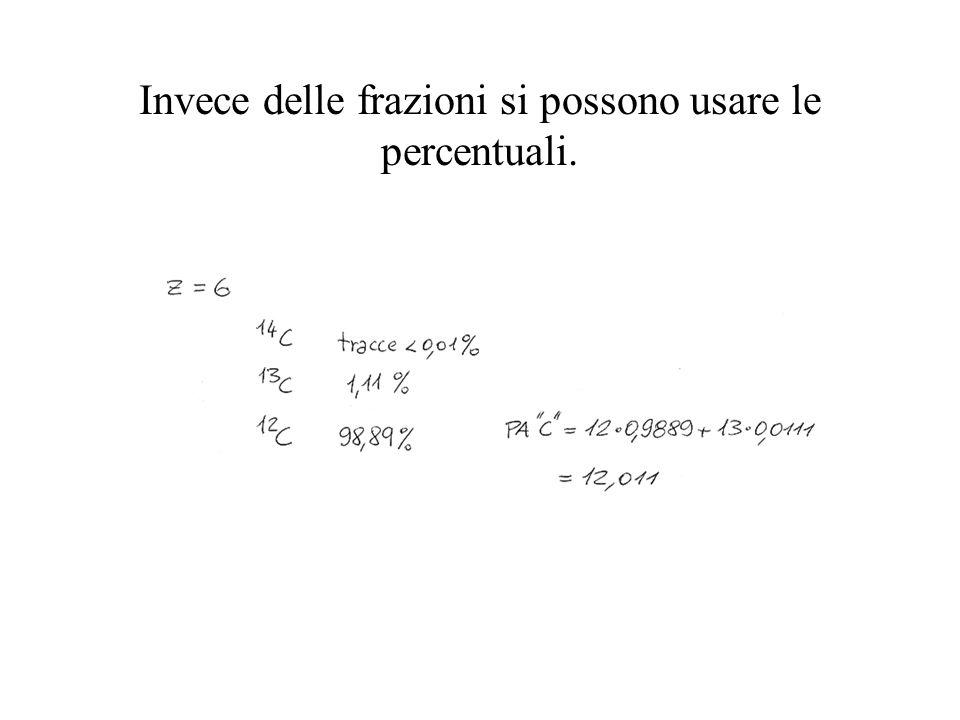 Invece delle frazioni si possono usare le percentuali.
