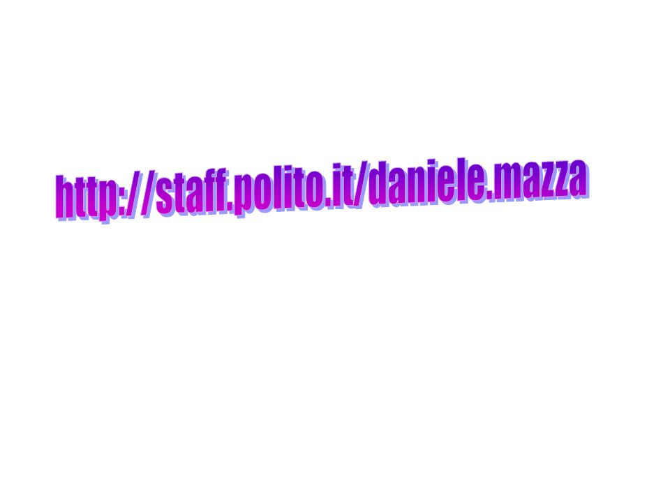 http://staff.polito.it/daniele.mazza