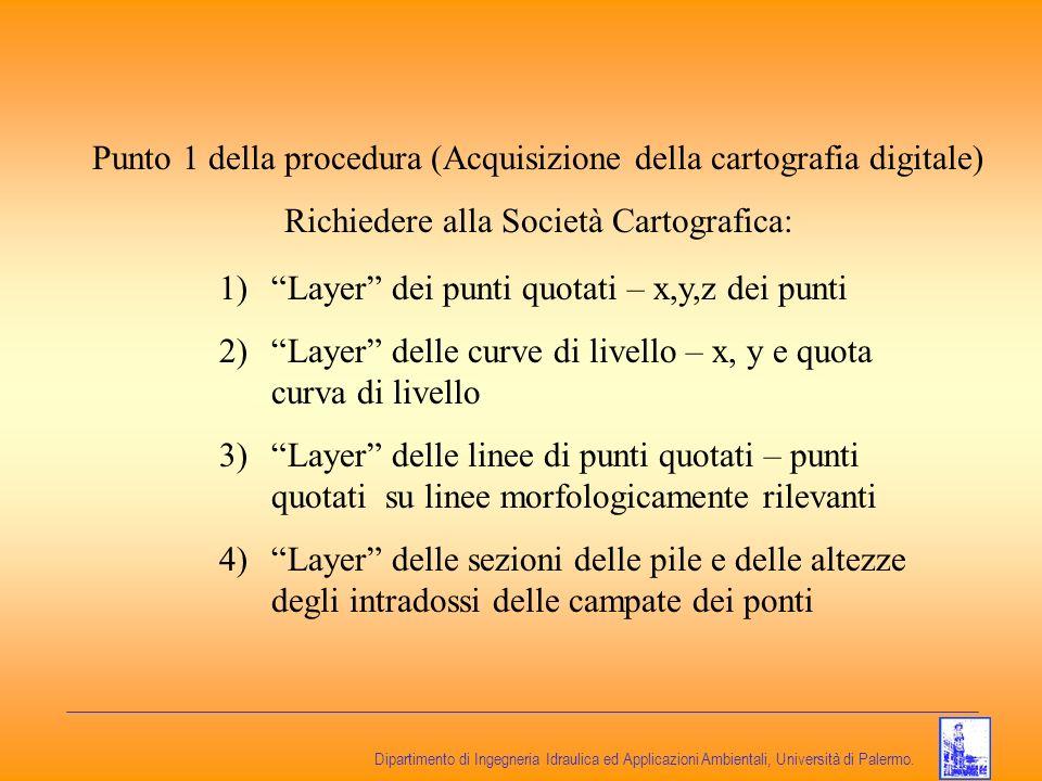 Punto 1 della procedura (Acquisizione della cartografia digitale)