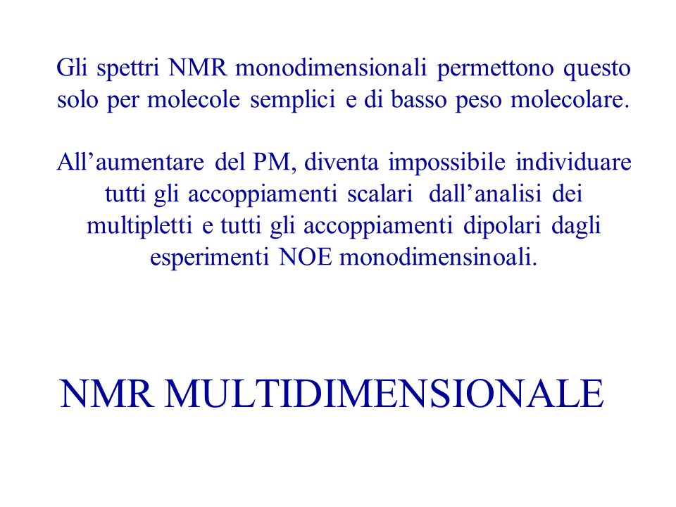 NMR MULTIDIMENSIONALE