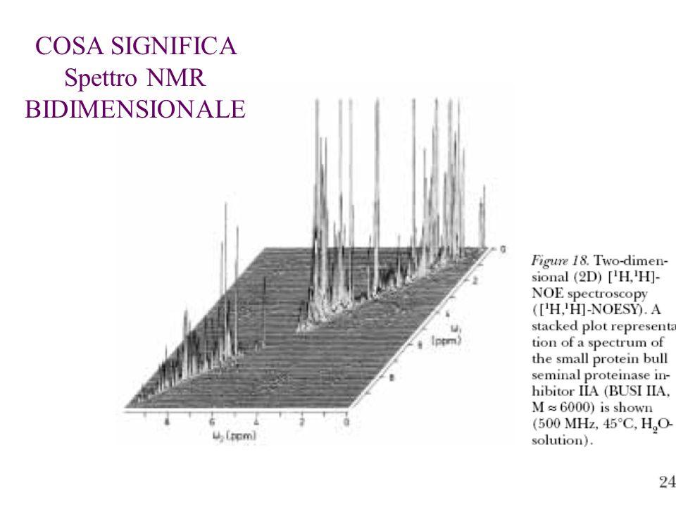 COSA SIGNIFICA Spettro NMR BIDIMENSIONALE