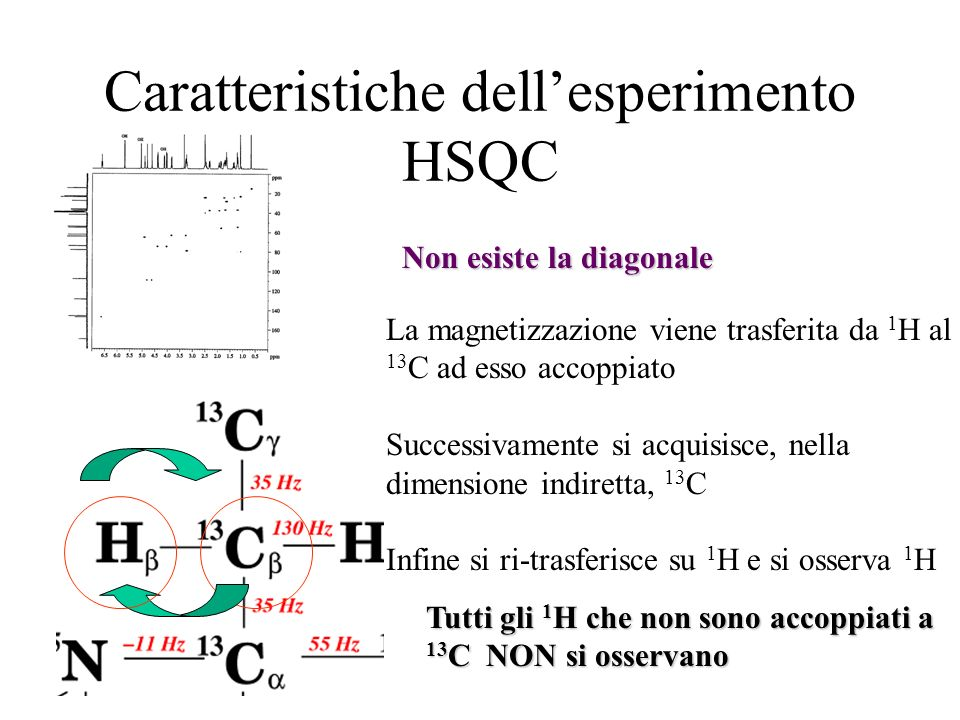 Caratteristiche dell'esperimento HSQC