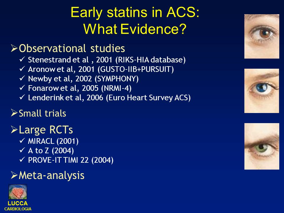 Early statins in ACS: What Evidence