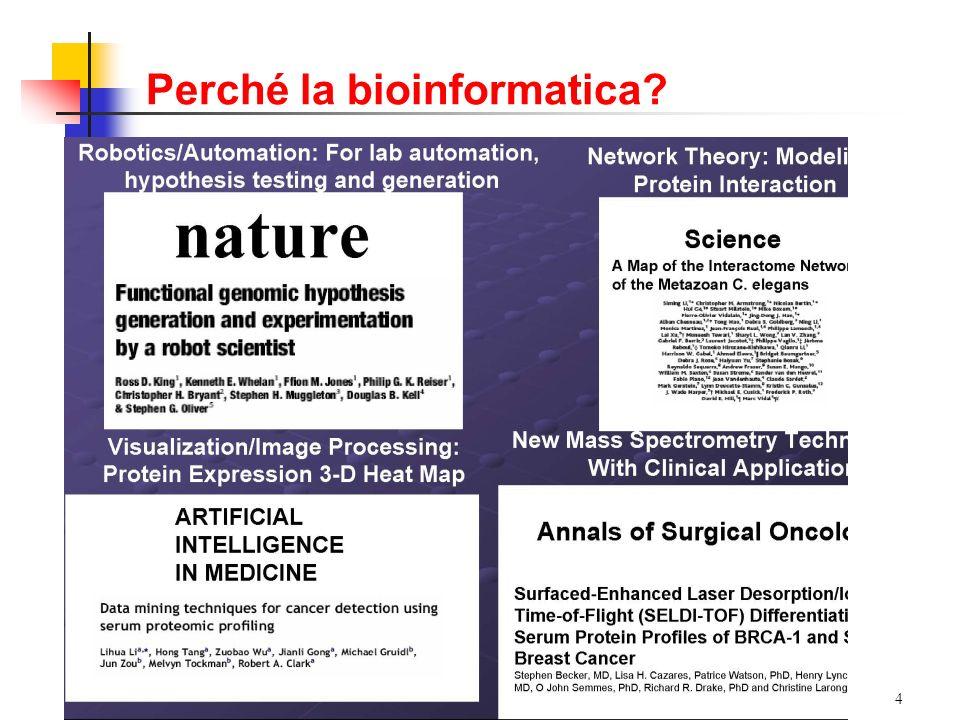 Perché la bioinformatica