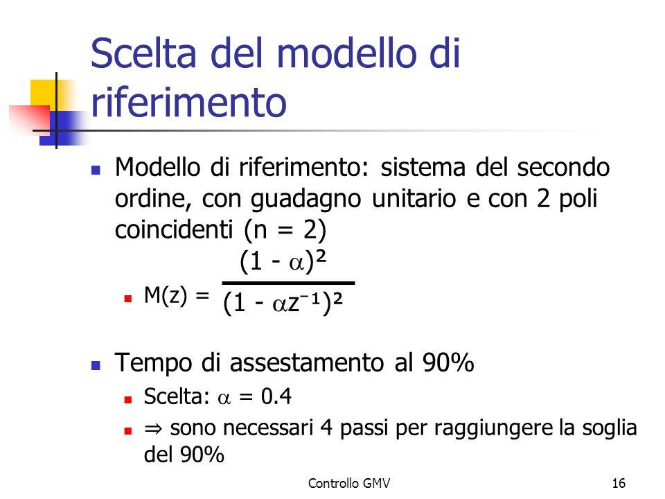 Scelta del modello di riferimento