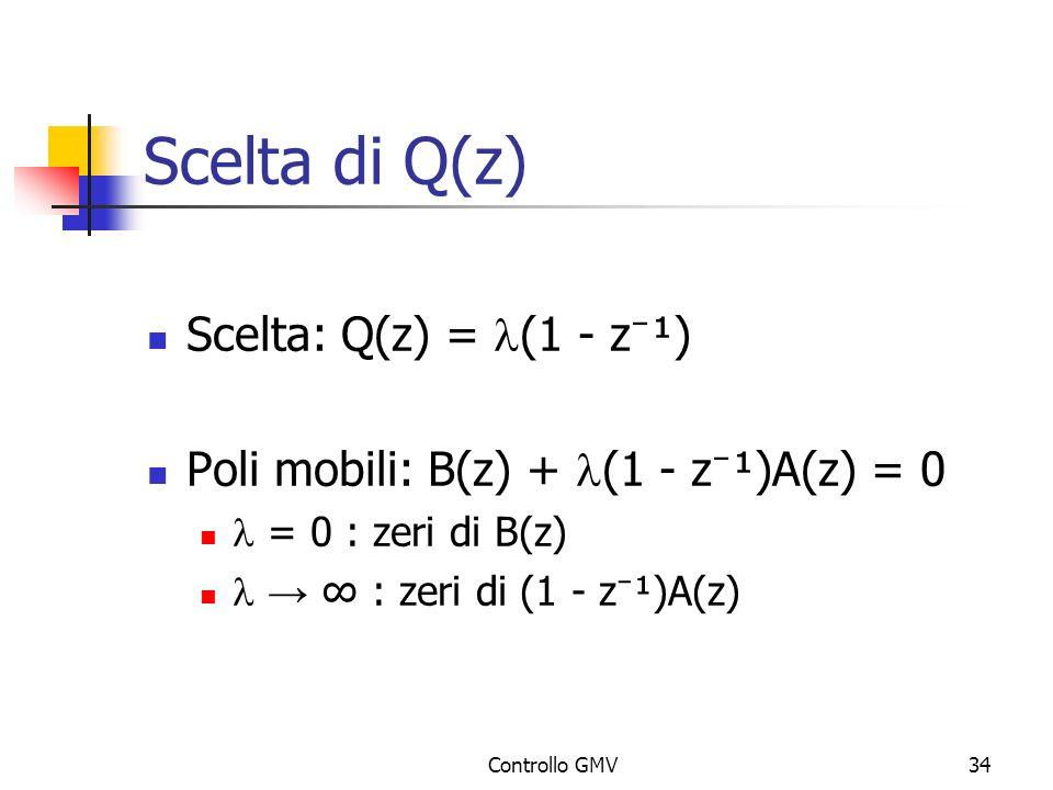 Scelta di Q(z) Scelta: Q(z) = l(1 - z⁻¹)