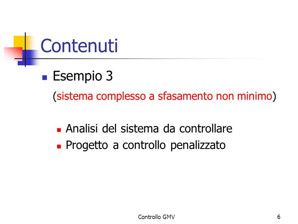 Contenuti Esempio 3 (sistema complesso a sfasamento non minimo)