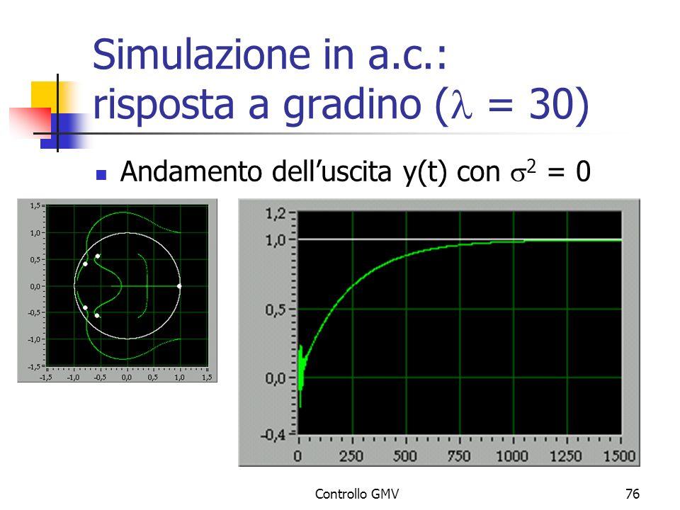 Simulazione in a.c.: risposta a gradino (l = 30)