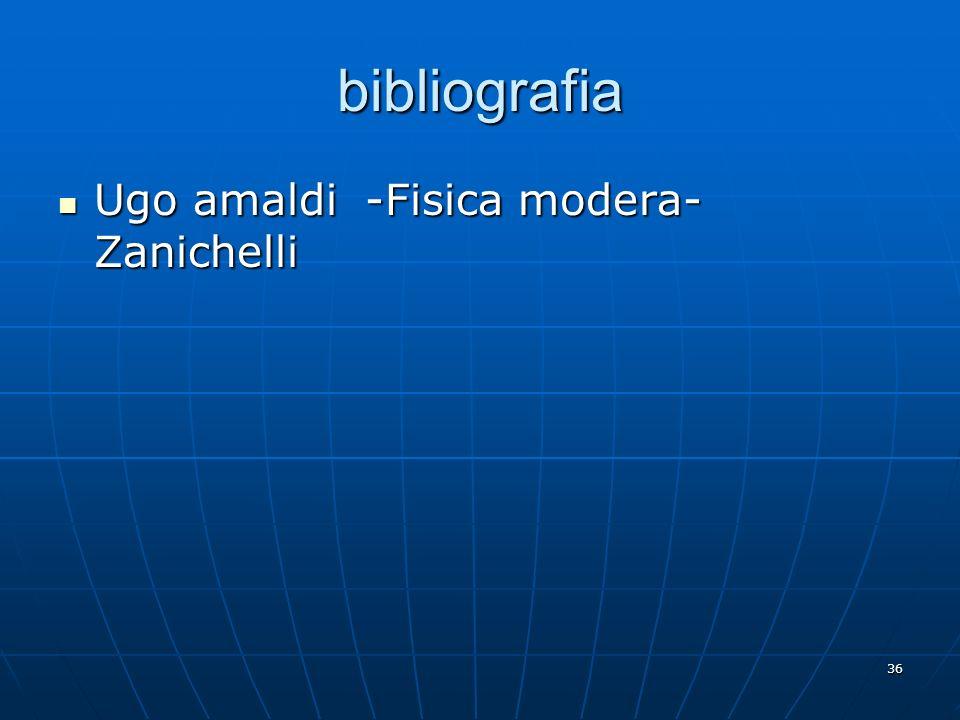 bibliografia Ugo amaldi -Fisica modera-Zanichelli