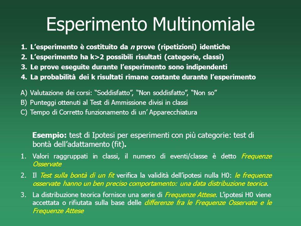 Esperimento Multinomiale