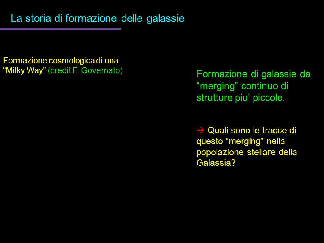 La storia di formazione delle galassie