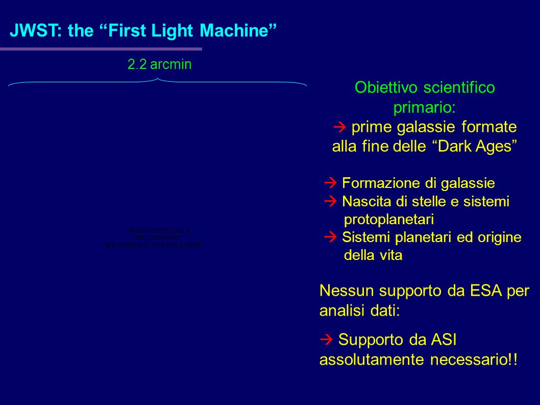 JWST: the First Light Machine