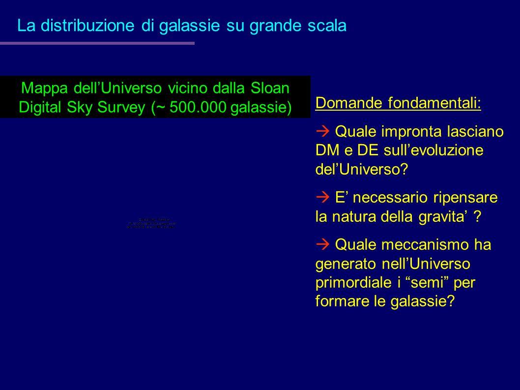 La distribuzione di galassie su grande scala