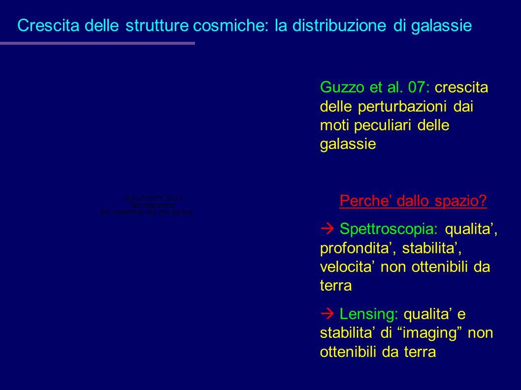 Crescita delle strutture cosmiche: la distribuzione di galassie