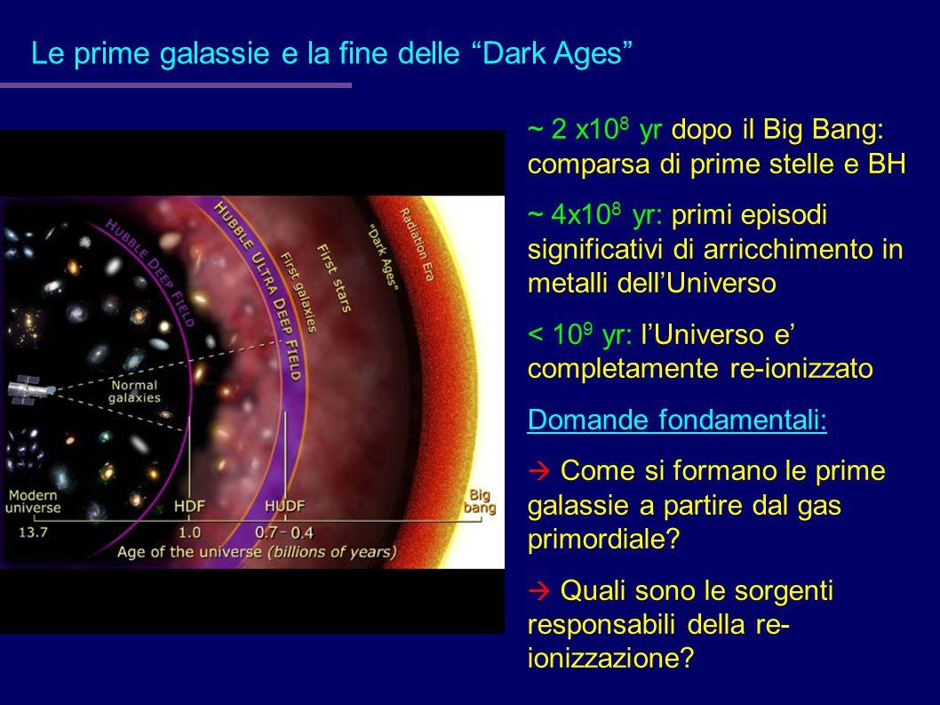 Le prime galassie e la fine delle Dark Ages