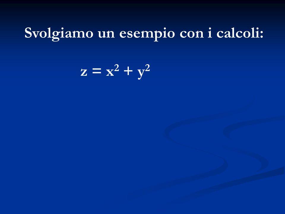 Svolgiamo un esempio con i calcoli: