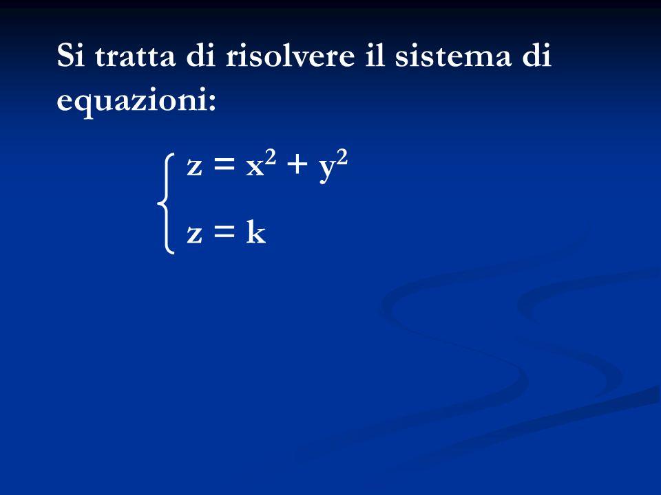 Si tratta di risolvere il sistema di equazioni: