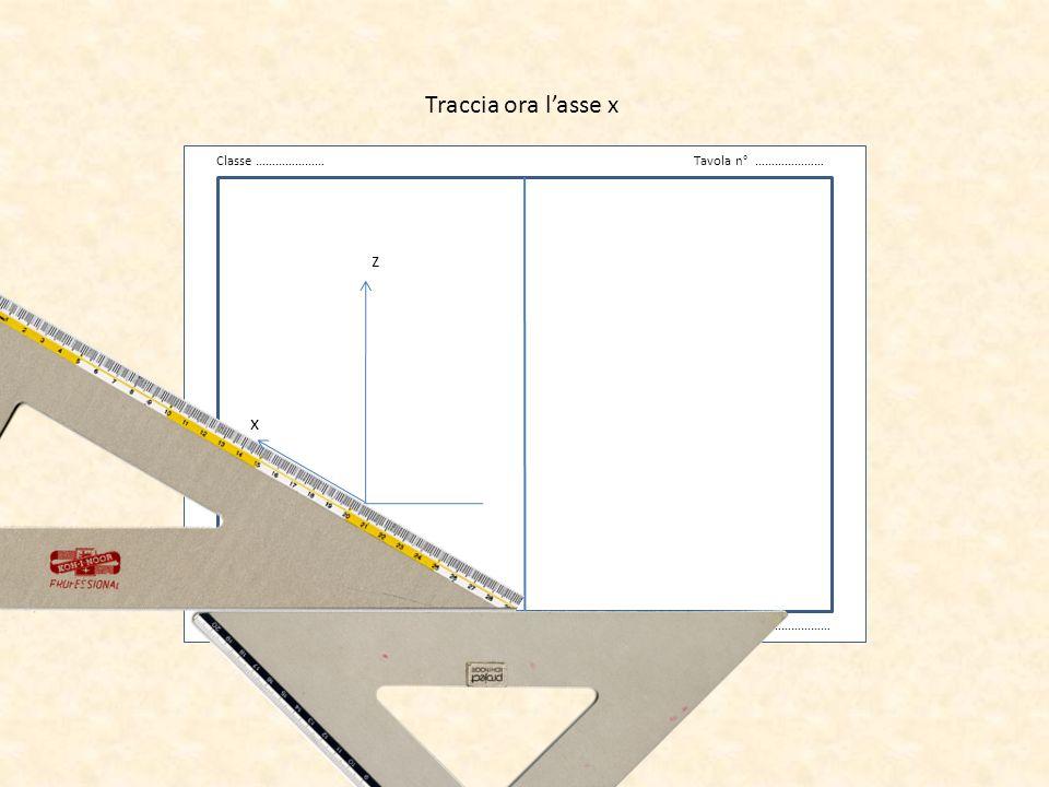 Traccia ora l'asse x v z x Classe ………………… Tavola n° …………………