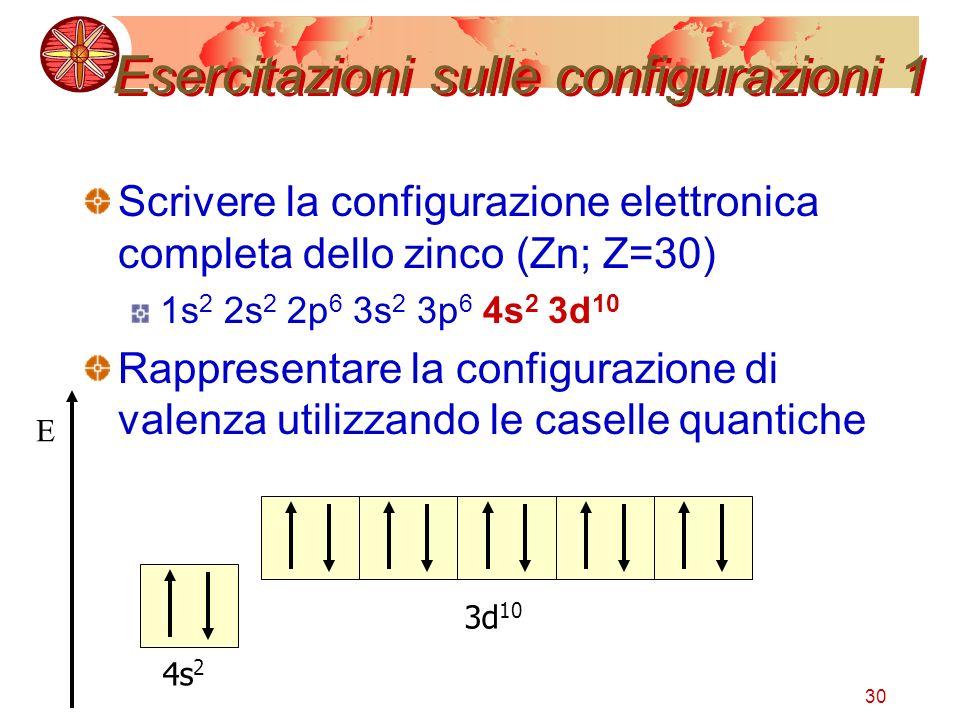 Esercitazioni sulle configurazioni 1
