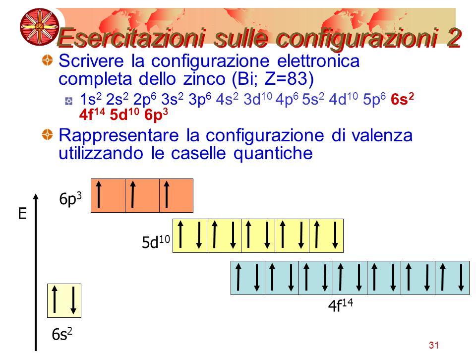 Esercitazioni sulle configurazioni 2