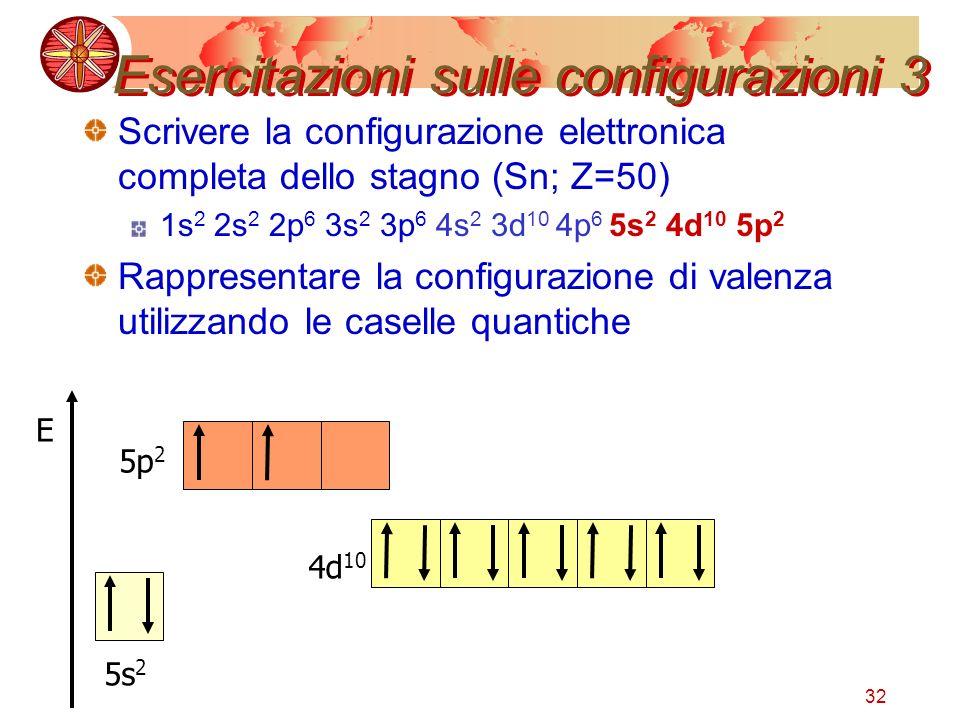 Esercitazioni sulle configurazioni 3