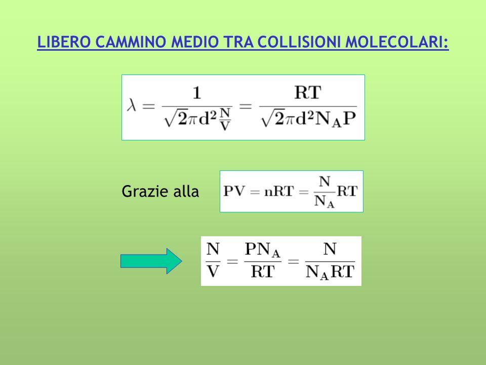 LIBERO CAMMINO MEDIO TRA COLLISIONI MOLECOLARI: