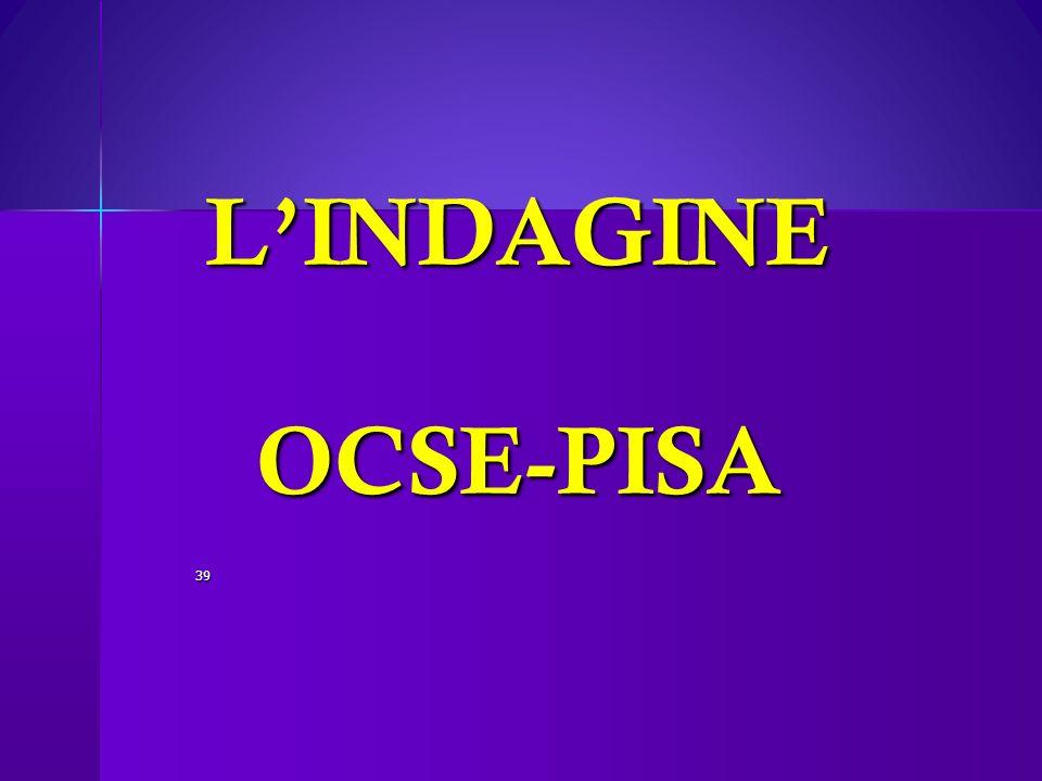 L'INDAGINE OCSE-PISA