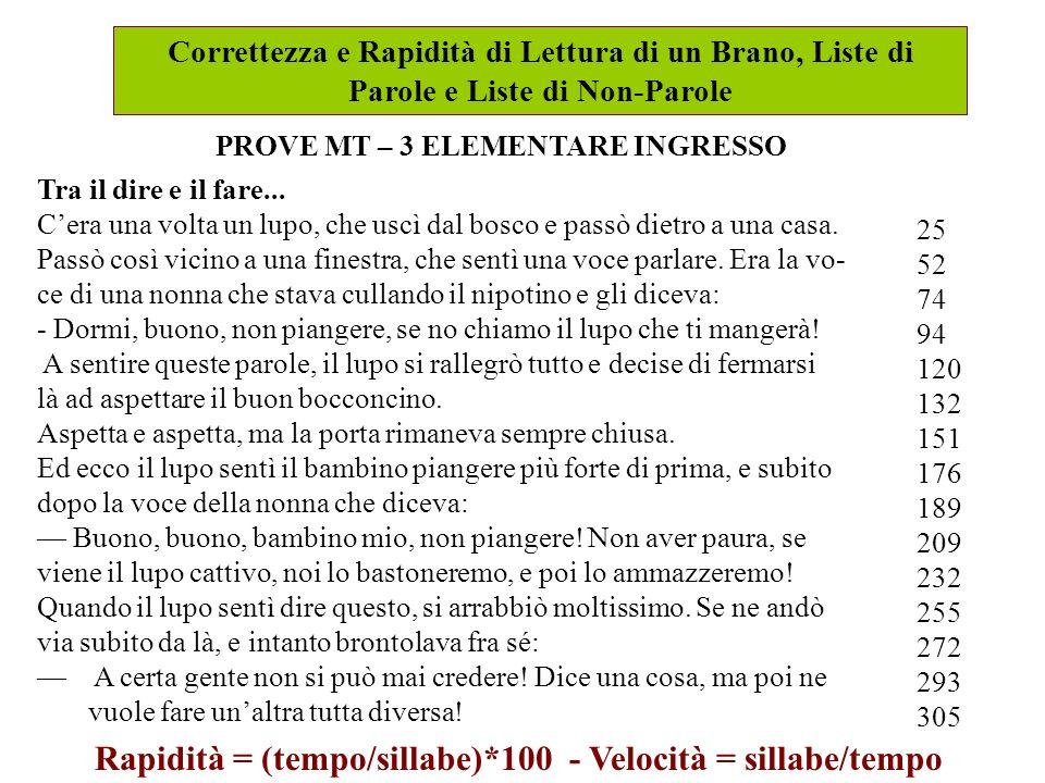 Prove di lettura gruppo mt organizzazioni speciali - Finestra in sillabe ...