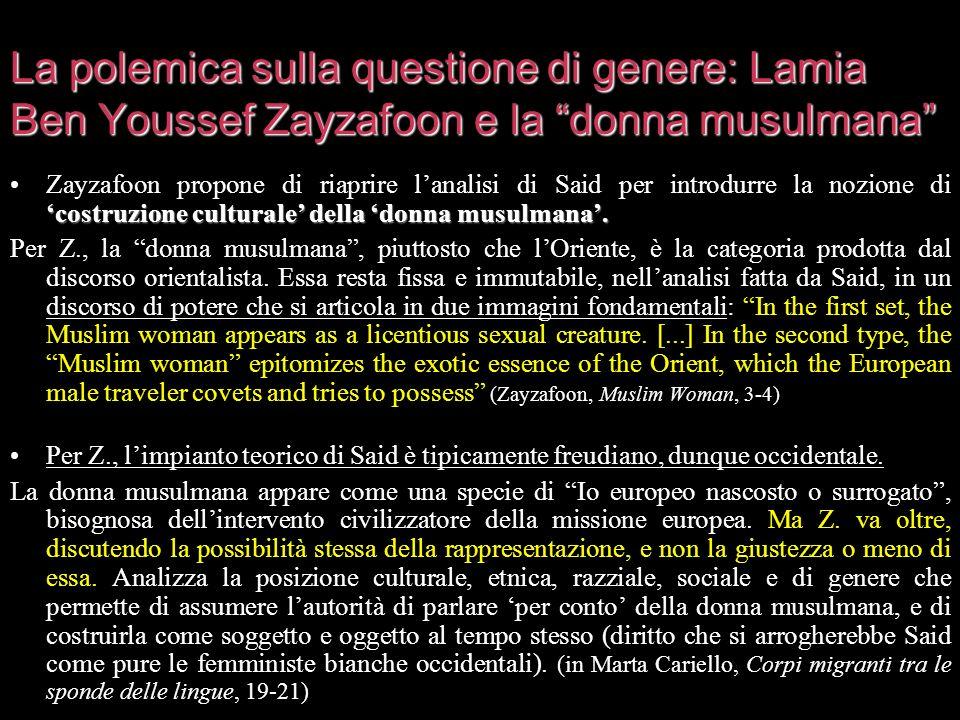 La polemica sulla questione di genere: Lamia Ben Youssef Zayzafoon e la donna musulmana