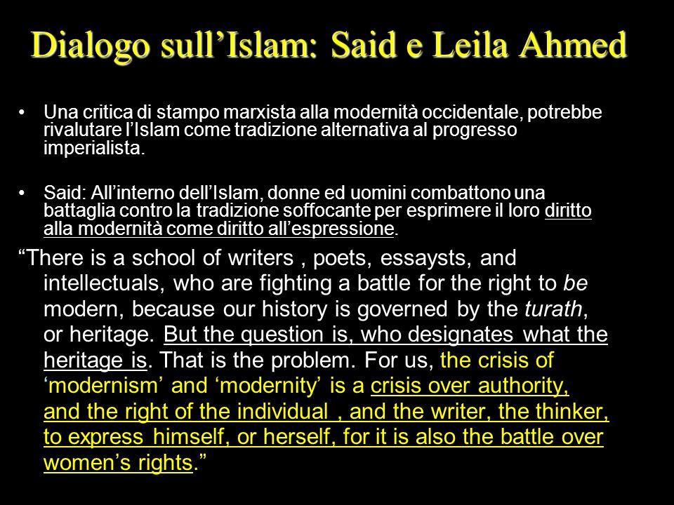 Dialogo sull'Islam: Said e Leila Ahmed