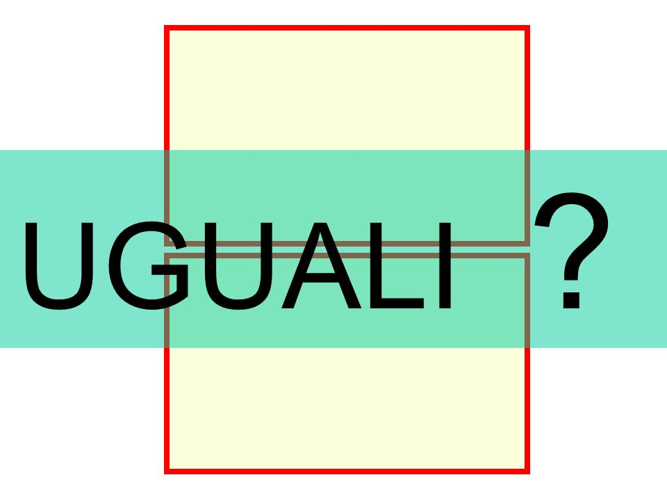 Rettangoli uguali UGUALI