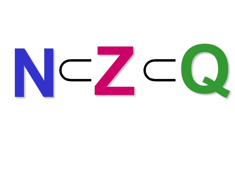 Inclusioni numeriche Q Z N