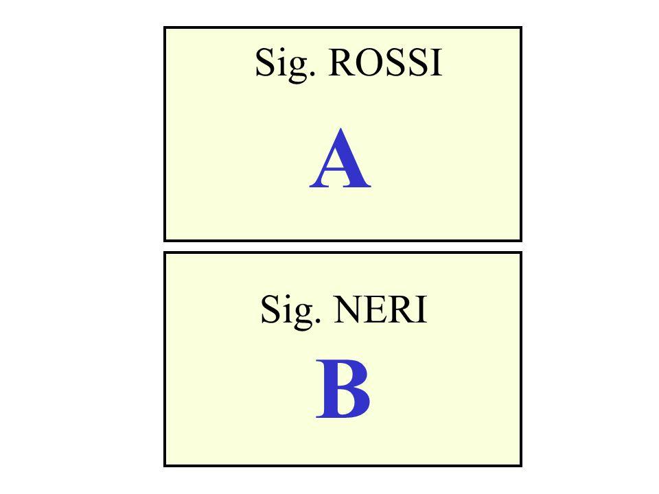 Sig. ROSSI A Sig. NERI B