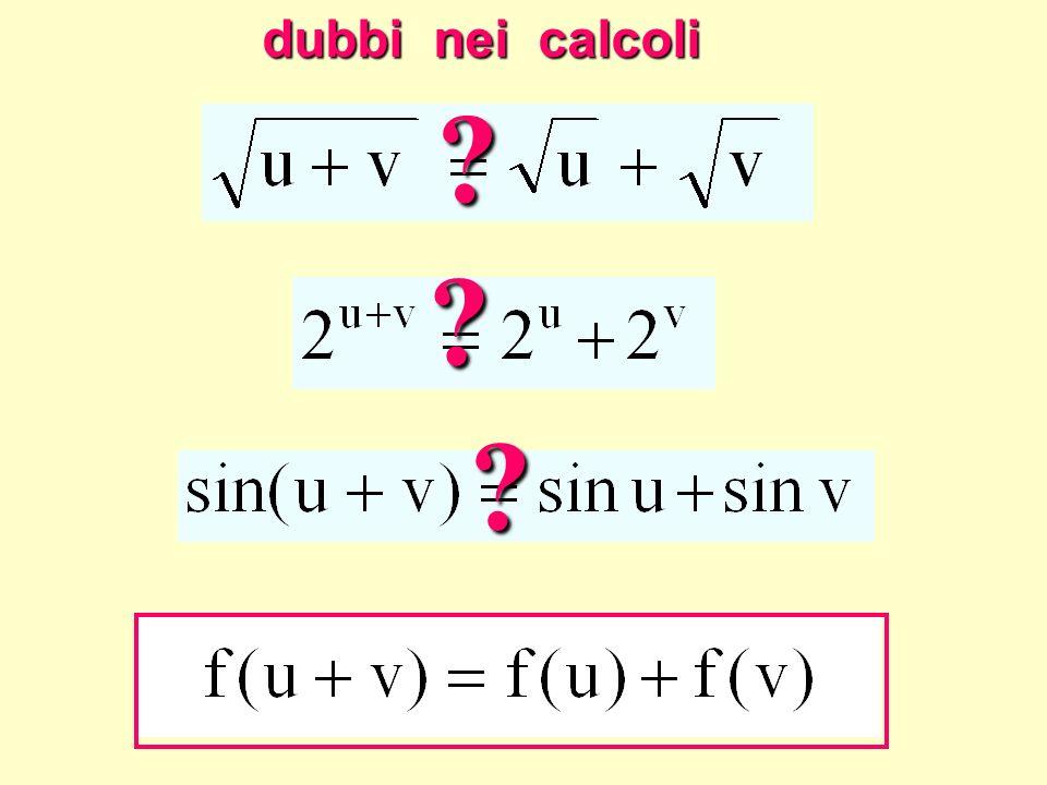 Dubbi nei calcoli dubbi nei calcoli