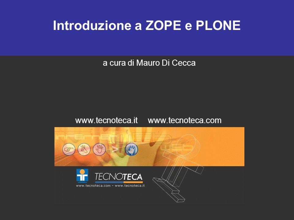 Introduzione a ZOPE e PLONE