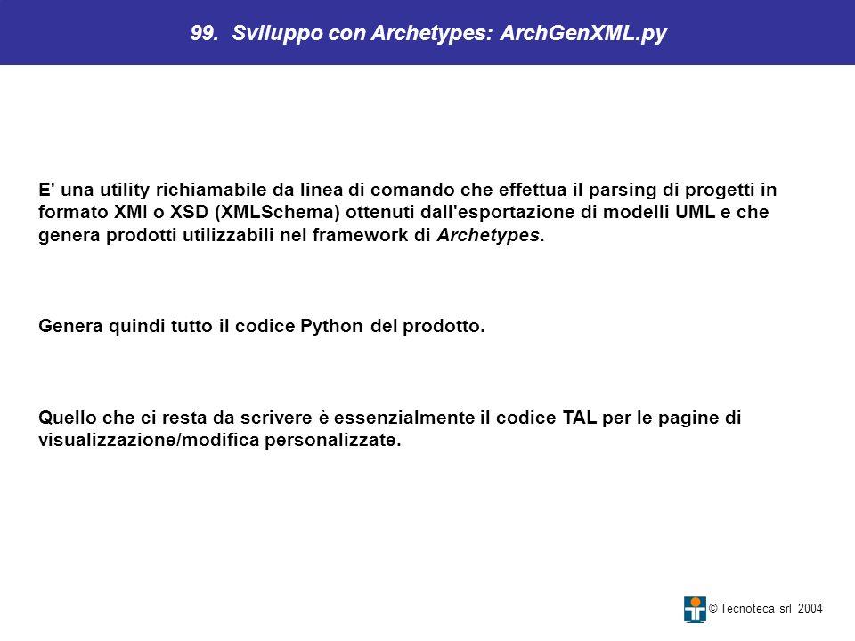 99. Sviluppo con Archetypes: ArchGenXML.py