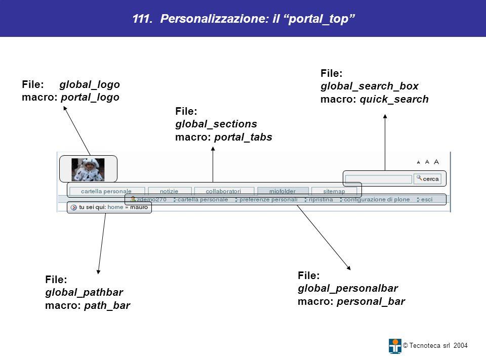 111. Personalizzazione: il portal_top